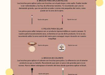 10 productos para crear un neceser básico de maquillaje.